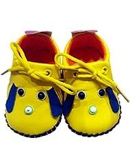 C2BB - C2BB - Chaussures premiers pas cuir souple fille   Mr shoes jaune