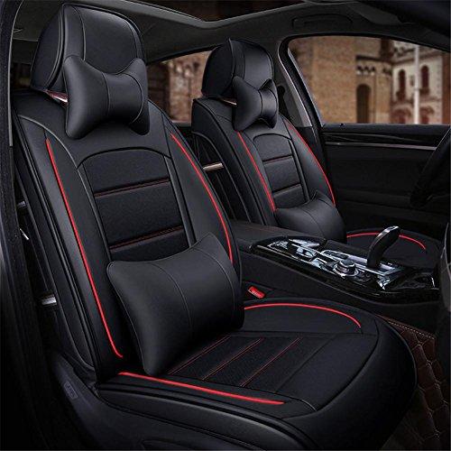 SHISHANG Echtleder Auto Kissen Luxus Sitzbezug Vier Jahreszeiten Universal 360 ° Full Surround Fit Modell (BMW 5er 3er Audi a4la6lq5 Mercedes C200) , c