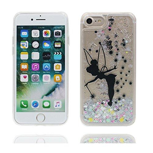 "iPhone 7 Hülle, fee Skin harte freie Handyhülle iPhone 7, Glitter Bling Transparent Hard Clear funkelt Shinny fließend, Apple iPhone 7 Case Cover 4.7"", Schock-bestän fee"