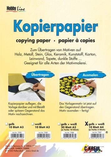 Pauspapier A4 gelb+weiß