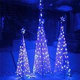 REDOI Natale flash net fata corde luce festa di nozze 8 Flash Mode controller impermeabile casa giardino vivaio (blu) 868 LED 6 * 4 M