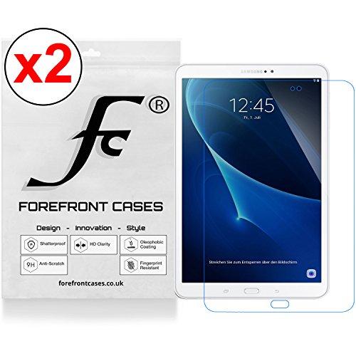 Forefront Cases® Displayschutzfolie für Samsung Galaxy Tab A 10.1 SM-T580 Schutzfolie Screen Protector (Packung mit 2) 10.1 Screen Protector