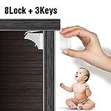 JOMO TECH Unsichtbare Kindersicherung Sicherheitsschloss für Schranktisch und Schubladen, Ohne Bohren Magnetische Schloss für Kinder ,8 Magnet Schlösser und 3 Schlüssel