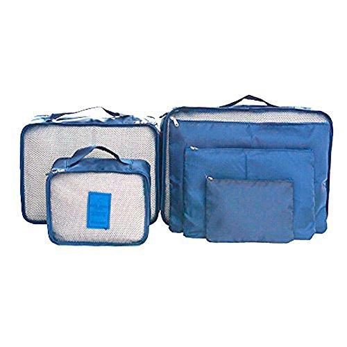 Denshine - Portatrajes de viaje azul oscuro different size