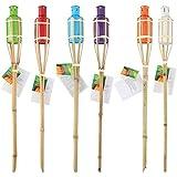 Torche de jardin Bambou 60 cm - Modele Aleatoire - Decoration Lampe Huile Insecte - 776