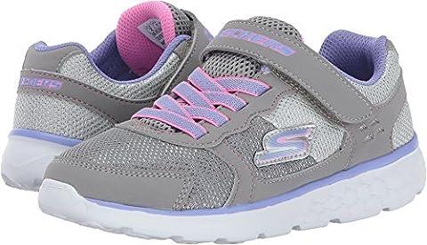 SKECHERS gris gris lavande 81358L chaussures élastique fille de déchirement 33