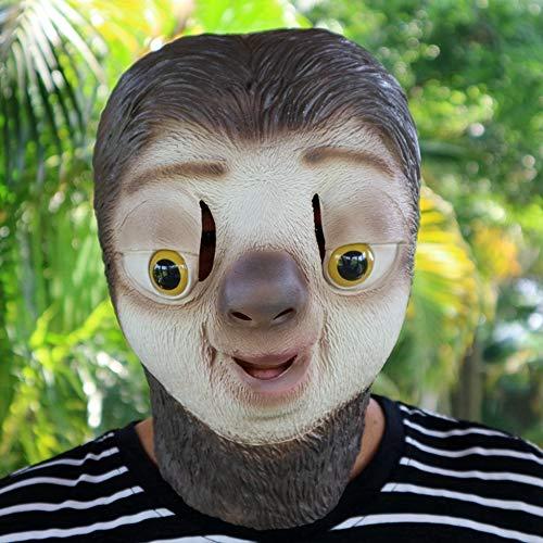 (Circlefly Tier-Maske Halloween Perücke Baum faul Latexmaske Perücke Party Spiel lustige Kinder Maske)