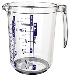 Fackelmann 41355 Profi-Messbecher, SAN-Kunststoff, 1 Liter