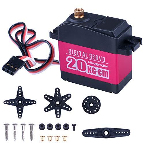 Quimat Servo Digital 20KG.cm Avanzado de Engranaje Metálico Completo Para Brazo Robótico, Vehículo y Proyecto de Control Remoto (Ángulo de Control 180 °)