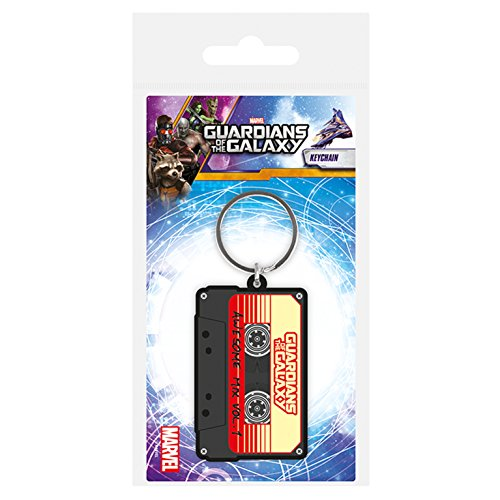 Preisvergleich Produktbild Guardians Of The Galaxy Awesome Mix Casette Tape Rubber Keyring Official