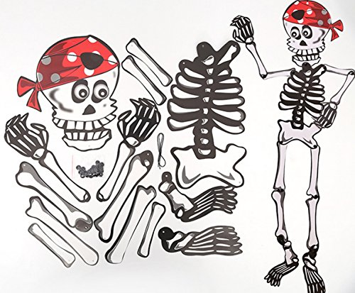 inolite. COR Halloween Klingen DIY Anhänger Skelett Zombie Kürbis Man Hexe Party Supplies Home Dekoration Requisiten Spielzeug Red scarf Skeleton