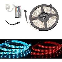 SODIAL(R) STRISCIA ADESIVA 300 LED SMD STAGNO 5MT RGB TELECOMANDO - Stagno Striscia
