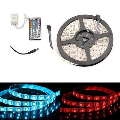 Sonline STRISCIA ADESIVA 300 LED SMD STAGNO 5MT RGB TELECOMANDO - Stagno Striscia