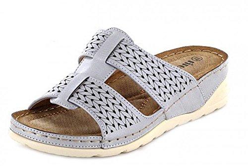 Quick-Schuh 1004804, Mules pour Femme Silber