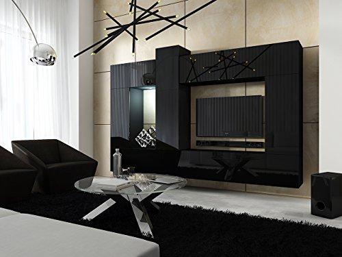 FUTURE 22 Moderne Wohnwand, Exklusive Mediamöbel, TV-Schrank, Neue Garnitur, Große Farbauswahl (RGB LED-Beleuchtung Verfügbar)