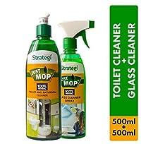 Herbal Strategi Toilet Cleaner 500ml, Glass Cleaner Spray 500ml (Pack of 2)