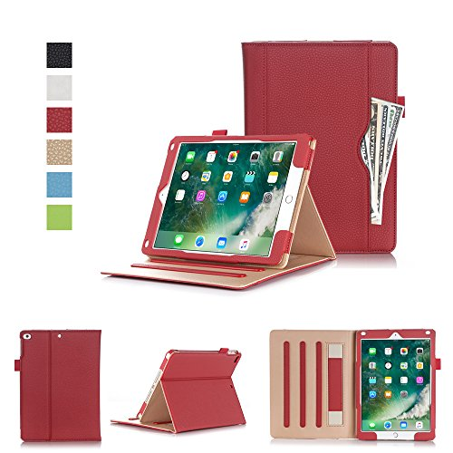 New iPad 2017 iPad 9 7 inch Case,VOVIPO Premium Leather Cover Stand Protective Folio Case For Apple iPad 9.7-inch (2017 Model) With Handstrap And Cornor Protection