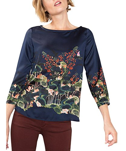 ESPRIT Collection 106EO1F006, Camicia Donna, Multicolore (Navy), 36