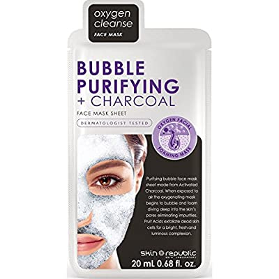 Skin Republic Oxygen Cleanse Bubble Purifying Plus Charcoal Face Mask, 20 ml from Skin Republic