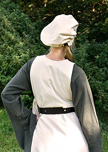 Mieder Gürtel aus Leder – Miedergürtel für Mittelalter, LARP Farbe schwarz - 3