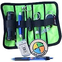 GEO-VERSAND 11 Teiliges Geocaching Anfänger Set - Basic mit Tasche, mehrfarbig, 10185