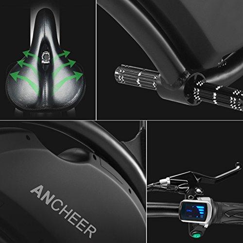 Ancheer E-Scooter Faltbar, Elektroroller Pedelec, Höchstgeschwindigkeit bis 25 km/h, 36V 4.4AH LG Zelle Batterie, 250W Hochgeschwindigkeit-Bürstenlose Heckmotor, intelligente App-Funktion Schwarz - 9