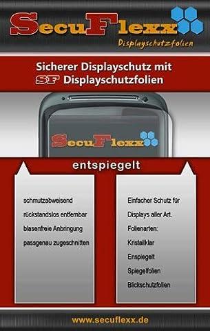 2 x SecuFlexx ANTIREFLEX (entspiegelt - anti fingerprint) Schutzfolie Displayschutz Kodak EASYSHARE