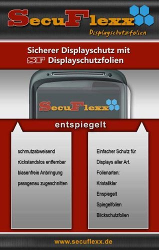 SecuFlexx ANTIREFLEX (entspiegelt - anti fingerprint) Schutzfolie Displayschutz HTC Athena