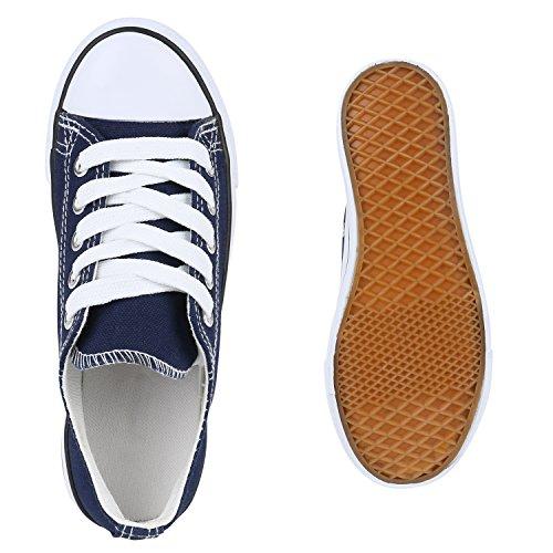 Kinder Sportschuhe Sneakers Turnschuhe Schnürschuhe Dunkelblau