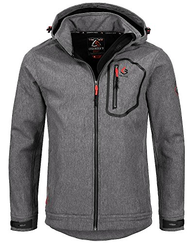 Georg Softshell Jacke Herren GRAU S 3XL Sport Outdoor Tracking NEU | eBay