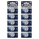 VARTA CR2032 Lithium Knopfzellen 3V Batterie in Original Blisterverpackung, 10er Pack