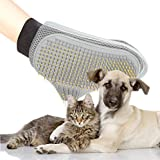 Poppypet Professional Pet Grooming Brushes Glove with Wire Pin, Hair Removal Brush for Dogs, Cat Brush Healthcare Grooming Bath Glove, New styling