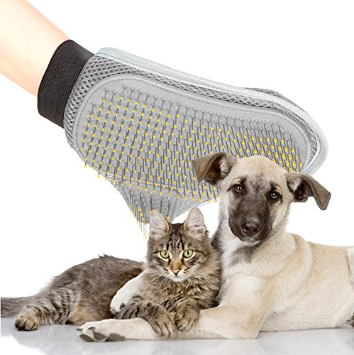 Poppypet Professional Pet Grooming Brushes Glove with Wire Pin, Hair Removal Brush for Dogs, Cat Brush Healthcare Grooming Bath Glove, New styling Massage Comb for Pets Test