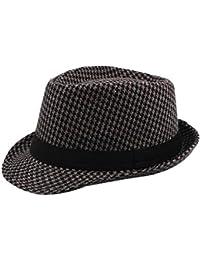 Daliuing Sombreros de Fieltro Unisex de Fieltro Sombrero de ala Ancha  Vintage Mujer Hombre Sombreros Sombrero 217faf98531