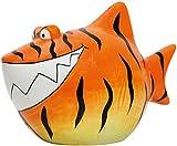 Spardose Sparhai Moneybank 'Tigerhai' orange- braun