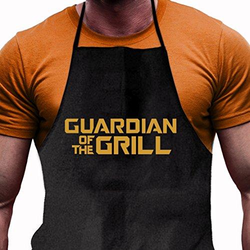 Shirtoo Grillschürze Guardian of the Grill - Lustiges Geschenk für echte Männer und Grill-Fans