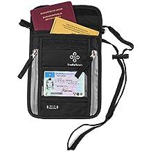 Premium-Brustbeutel mit RFID-Blocker für Damen & Herren   Flache geräumige Brusttasche   Leichte Brustbeuteltasche für maximale Sicherheit für Smartphone & Reise-Dokumente