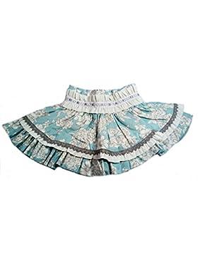 Godettia, falda estampada fondo