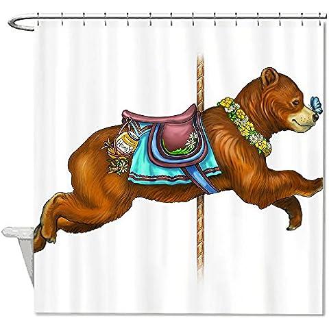 whiangfsoo Orso poliestere tenda da doccia in tessuto antiscivolo per bambini, #5, 60