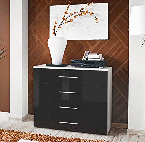 Muebles Bonitos - Aparador de diseño Salce blanco y negro