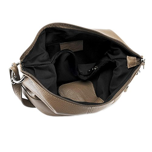 OH MY BAG - borsa a tracolla di pelle modello Beaubourg TAUPE FONCE