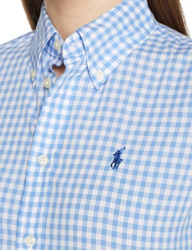 Polo Ralph Lauren Damen Hemd BD Kendal-Slim-Long Sleeve-Shirt Mehrfarbig (566A Spring Blue/White 2Zeq)