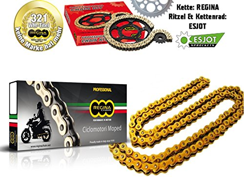 REGINA GOLD Kette 420-110 Offen mit Clip Rollenkette - Antriebskette - Simson S51