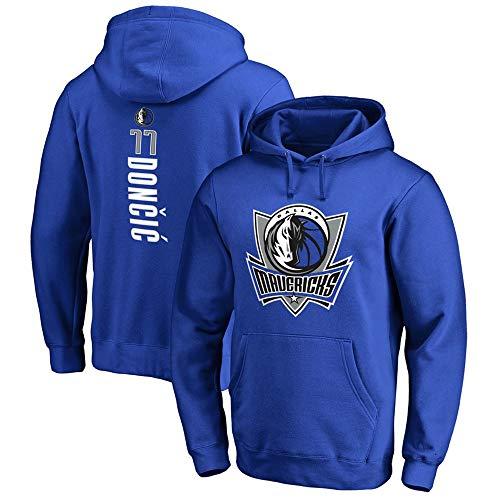 Herren Basketball Hoodie Sweater NBA Dallas Mavericks 77# Doncic Basketball Jacke