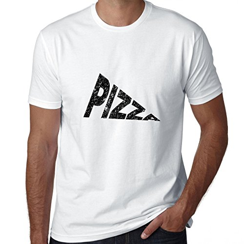 Simple Pizza Slice Word Graphic Men's T-Shirt