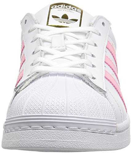 Adidas Superstar White Black Womens TrainersC77153 White/Clear Light Pink Metallic/Gold