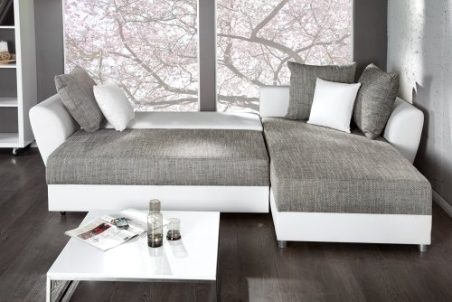 PALMA Ecksofa mit Schlaffunktion und Bettkasten in L-Form