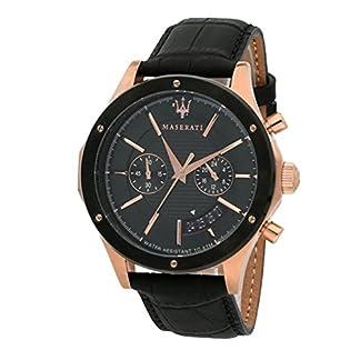 Reloj para Hombre, Colección Circuito, en Acero, PVD Oro Rosa, Cuero – R8871627001