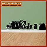 Mäuseaufkleber, Wand-Aufkleber Maus, Wandtattoo für Fussleiste / Wand / Treppe etc. ca. 20 cm breite Müllabfuhr Motiv12