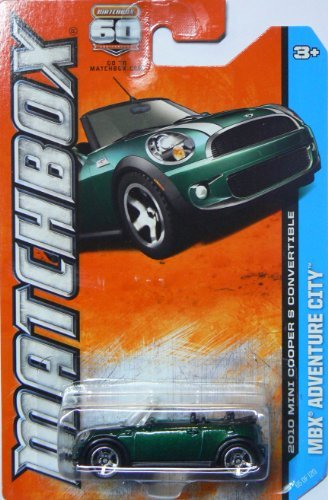 Matchbox Mbx Adventure City 2010 Mini Cooper S Convertible Green 65/120 by Matchbox Turbo Memory
